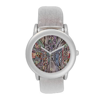 Store abstract pattern wristwatches