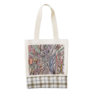 Store abstract pattern zazzle HEART tote bag