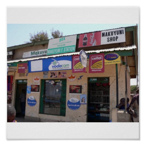 Store along the roadside in Tanzania, Kenya Print