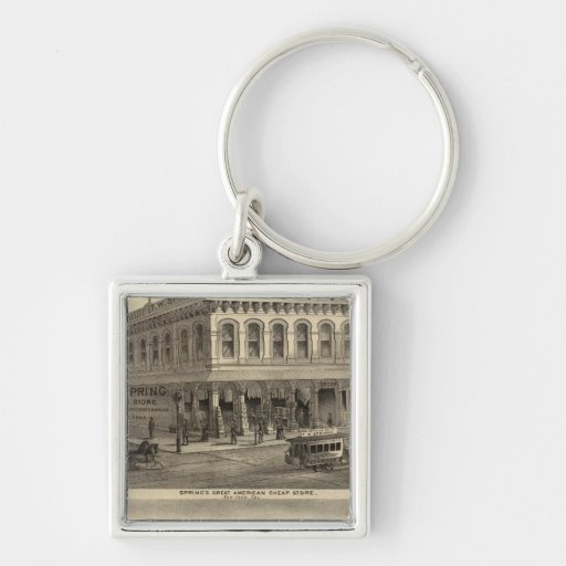 Store, brewery, San Jose Silver-Colored Square Keychain