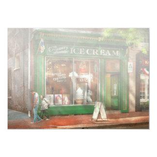 "Store Front - Alexandria, VA - The Creamery 5"" X 7"" Invitation Card"