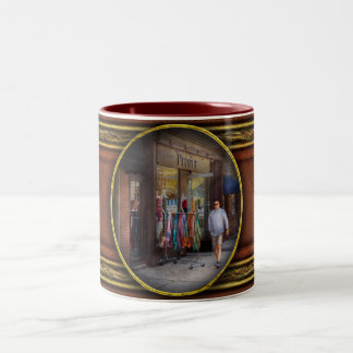 Store Front - Hoboken, NJ - People Two-Tone Coffee Mug