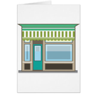 Store Front Vector Card
