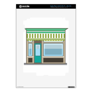 Store Front Vector Skin For iPad 3