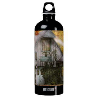Store - Hollyhocks and Ivy Water Bottle