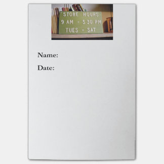Store Hours Sign Large Post-it Notes Post-it® Notes
