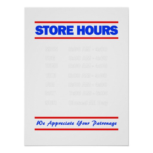 Office hours sign template free militaryalicious office hours sign template free store hours sign accmission Images