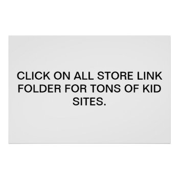 Store Link Poster by creativeconceptss at Zazzle