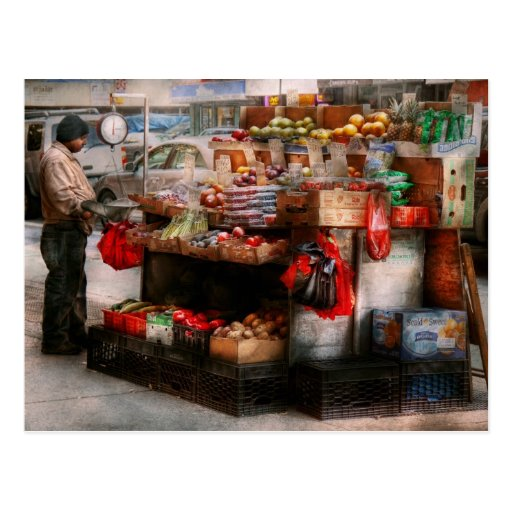 Store - NY - Chelsea - Fresh fruit stand Post Cards