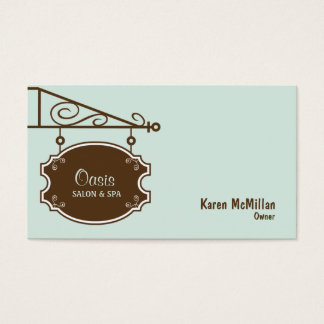 Store Sign Business Card - Soft Blue