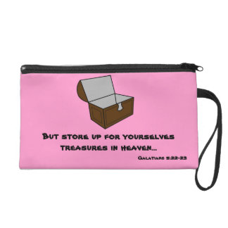 Store up Treasures in Heaven Wristlet Purse