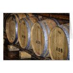 Stored Wine Barrels. Greeting Card