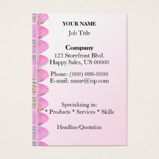 Storefront Awning Pink Business Card