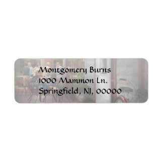 Storefront - Frenchtown, NJ - At a quaint Bistro Return Address Label
