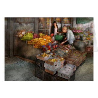 Storefront - Hoboken, NJ - Picking out fresh fruit Card