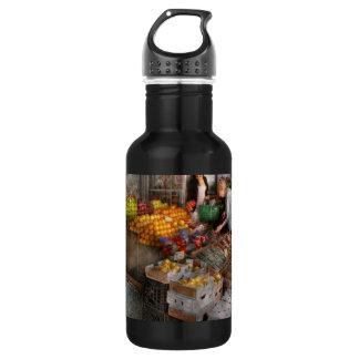 Storefront - Hoboken, NJ - Picking out fresh fruit Stainless Steel Water Bottle