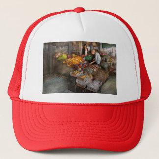 Storefront - Hoboken, NJ - Picking out fresh fruit Trucker Hat