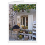Storefront in Provence, France Card
