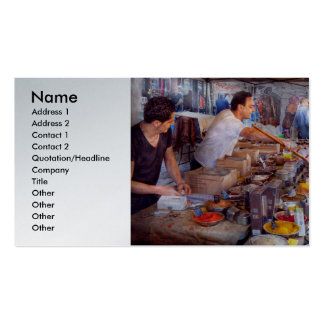 Storefront - The open air Tea & Spice market Double-Sided Standard Business Cards (Pack Of 100)