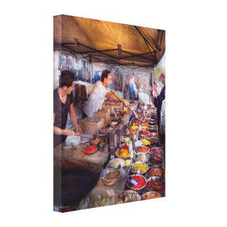 Storefront - The open air Tea & Spice market Canvas Prints