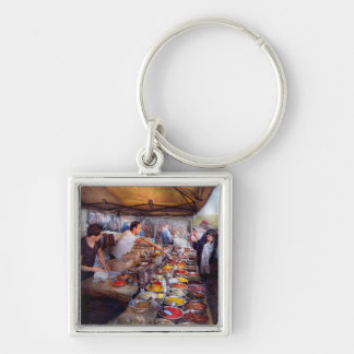 Storefront - The open air Tea & Spice market Keychain