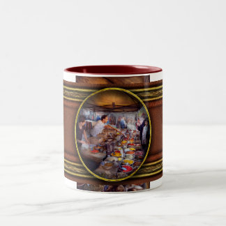 Storefront - The open air Tea & Spice market Two-Tone Coffee Mug