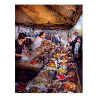 Storefront - The open air Tea & Spice market Postcard