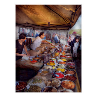 Storefront - The open air Tea & Spice market Poster