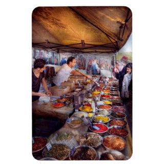 Storefront - The open air Tea & Spice market Flexible Magnet