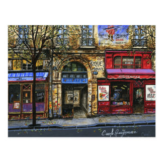 Storefronts in Paris  Mini Collectible Prints Postcard