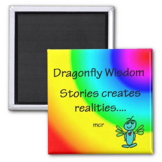 Stories and realities 2 inch square magnet