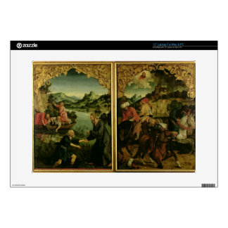 """Stories of S.S. Peter and Paul altarpiece: detail 15"""" Laptop Decal"""