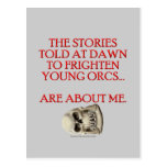 Stories Told to Frighten Young Orcs Post Cards