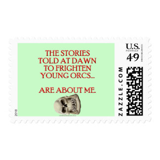 Stories Told to Frighten Young Orcs Postage