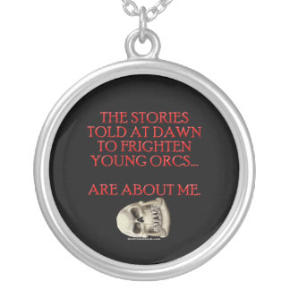 Stories Told to Frighten Young Orcs Round Pendant Necklace