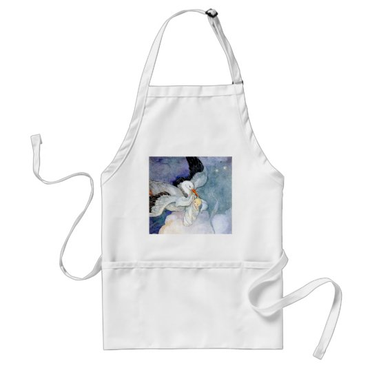 Stork and Baby Adult Apron