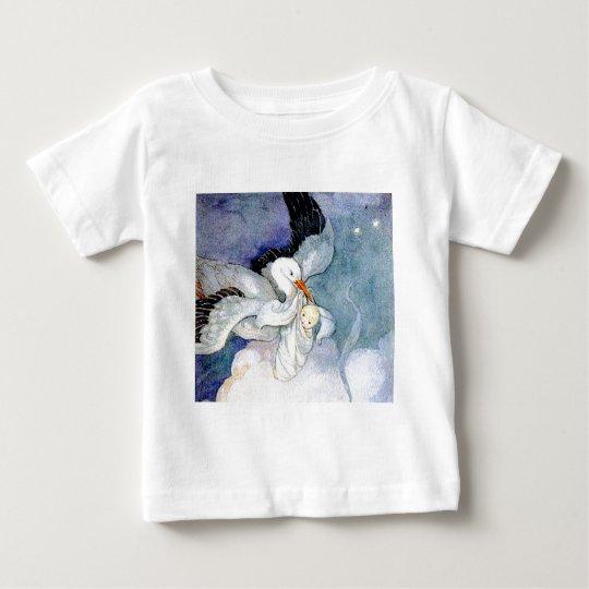 Stork and Baby Baby T-Shirt