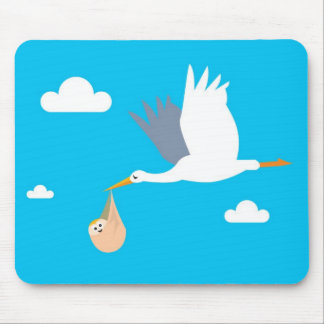 Stork and Baby Boy Mousepad