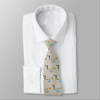Stork and Baby Boy Neck Tie