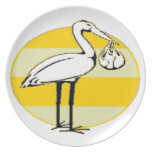 Stork and Baby Bundle Party Plates