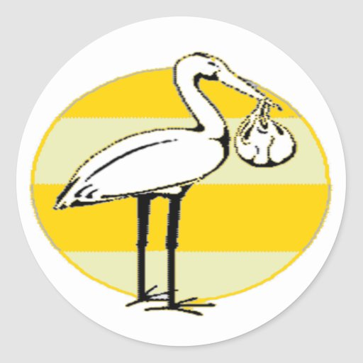 Stork and Baby Bundle Stickers