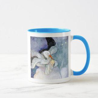 Stork and Baby Mug