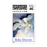 Stork and Baby Postage Stamp