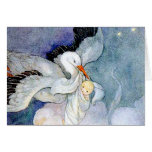 Stork and Baby Stationery Note Card