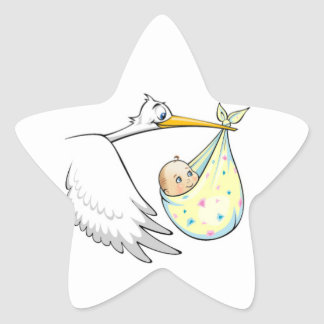 stork and baby stickers