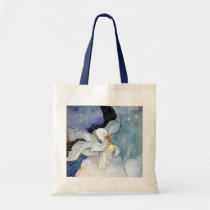 Stork and Baby Tote Bag