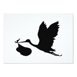 Stork and Bundle of Joy Silhouette Card