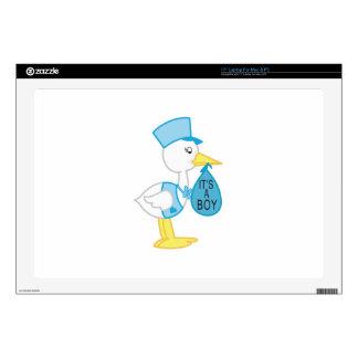 Stork Announcement Laptop Decals
