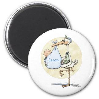 Stork - Baby Boy Magnet