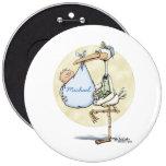 Stork - Baby Boy Pinback Buttons